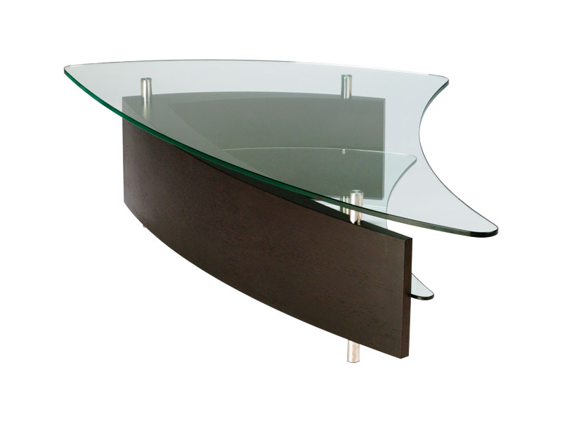 BDI Fin Coffee Table Espresso 1106